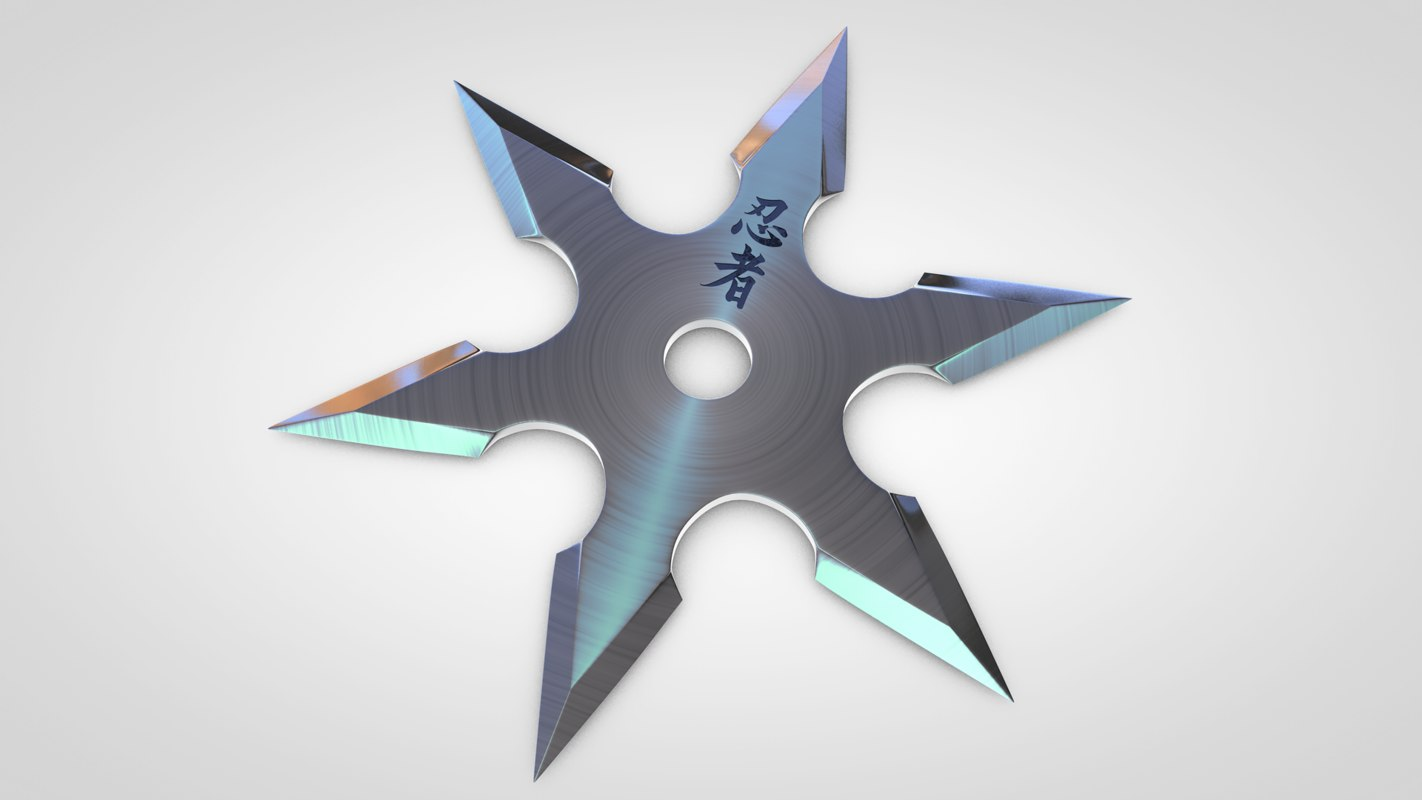 3d model throwing star shuriken