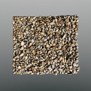 3d model scan coarse gravel