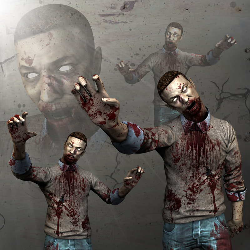 zombies 3d max