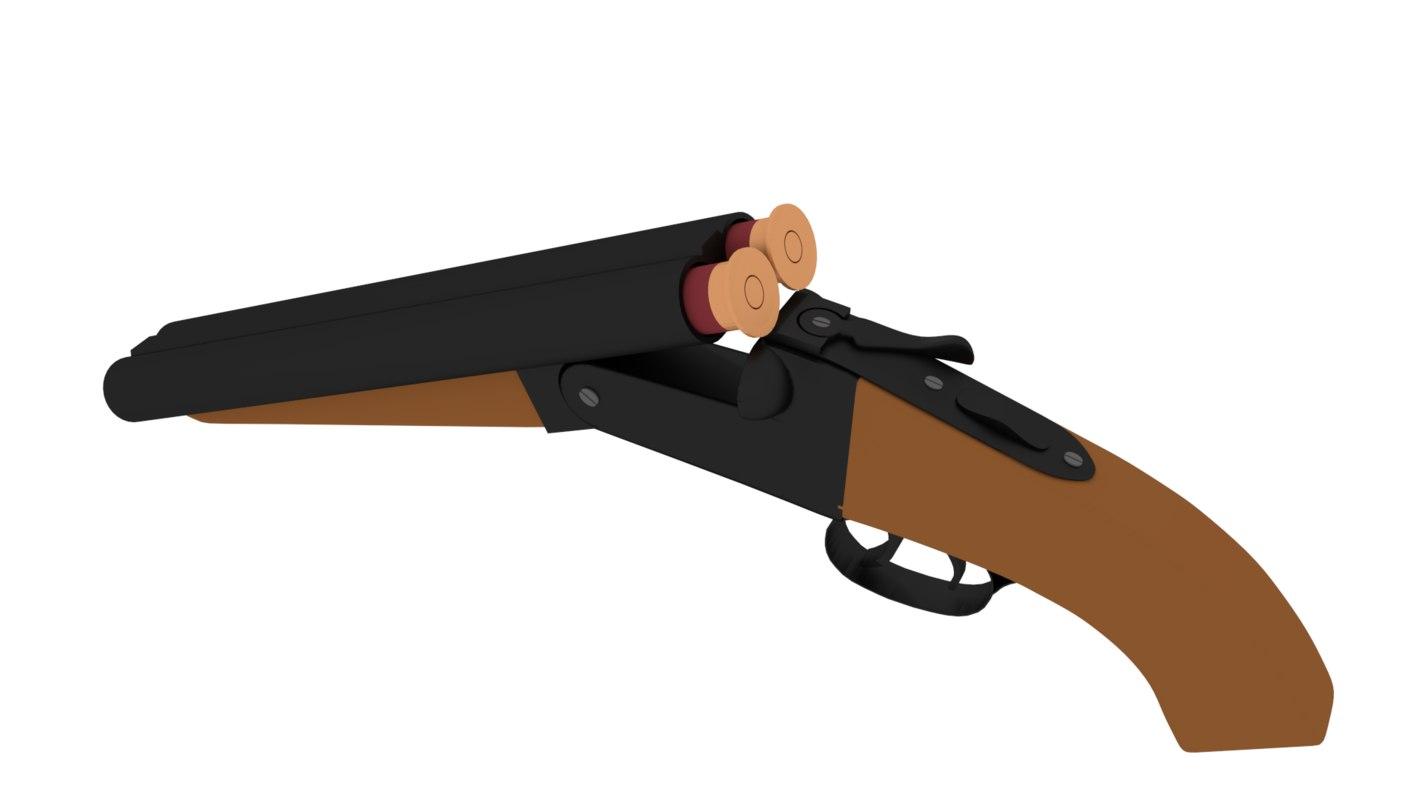 3d sawed shotgun