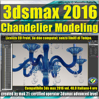 048 3ds max 2016 Chandelier Modeling vol. 48 CD front
