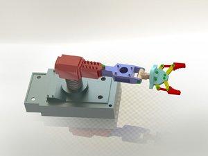 3dsmax robot hand