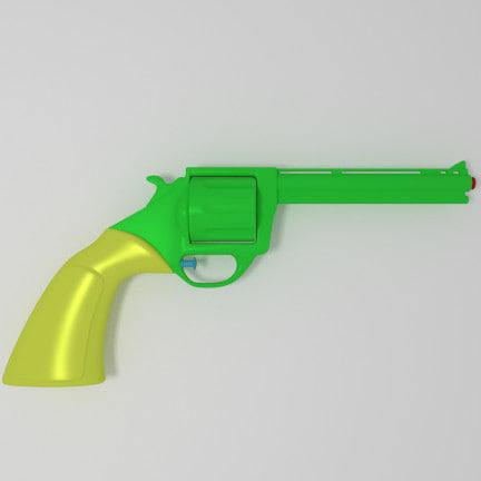 3d revolver model