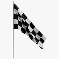 3d model of racing flag 2