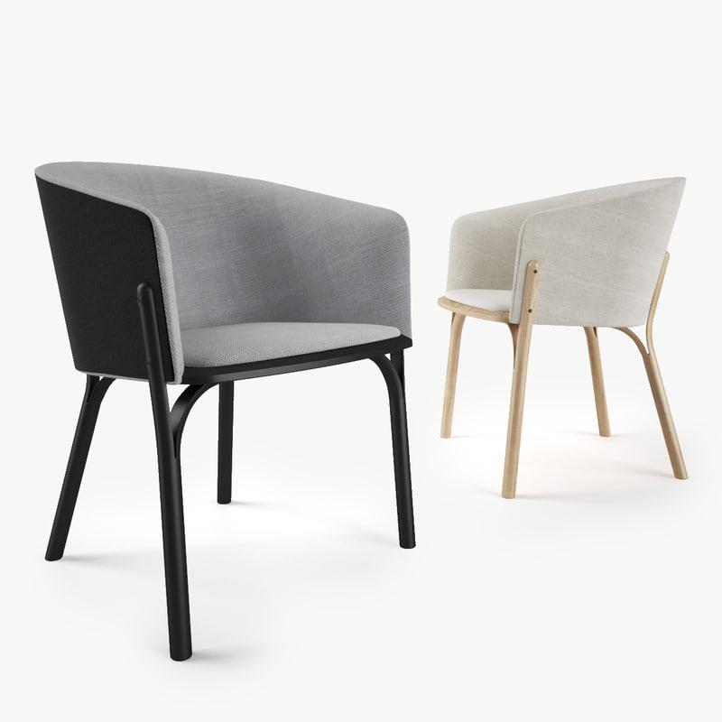 ton split armchair 3d model