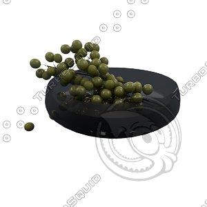 wine grapes 3d c4d