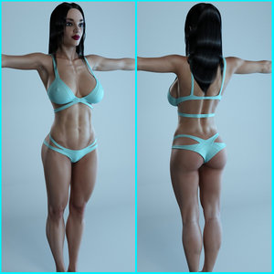 3d max fitness female character