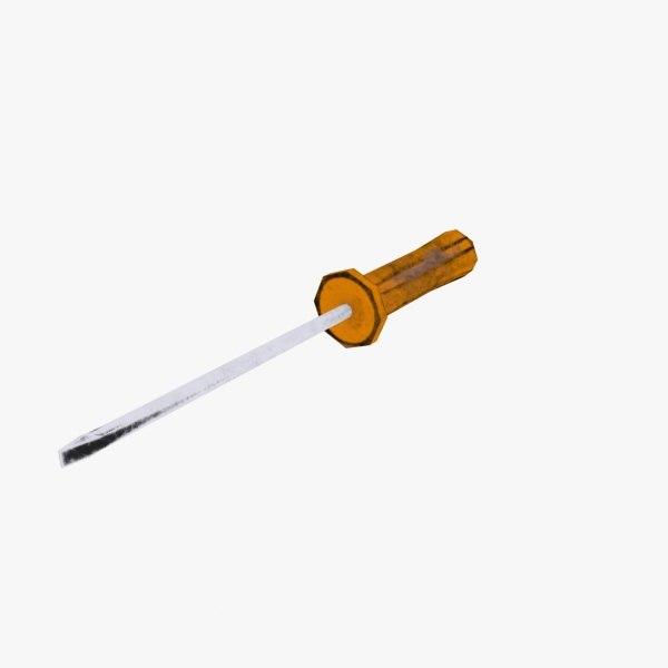 3d screwdriver model