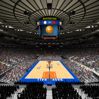3d madison arena msg basketball model