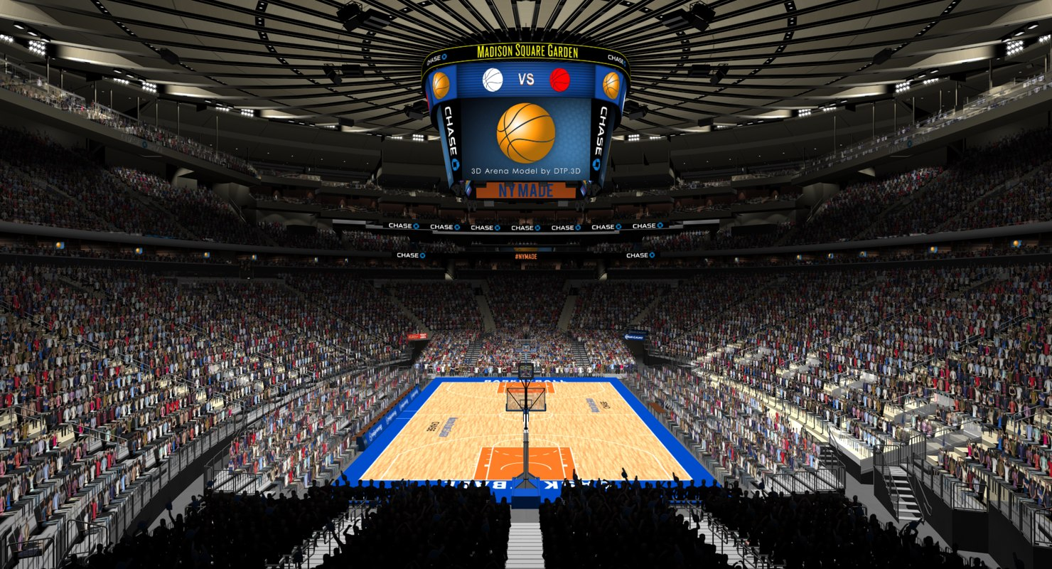 3d madison arena msg basketball model Madison square garden basketball