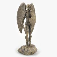 statue elf girl 3d max
