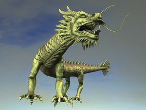3d chinese dragon animation model