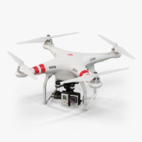 3d fbx dji phantom 2 quadcopter