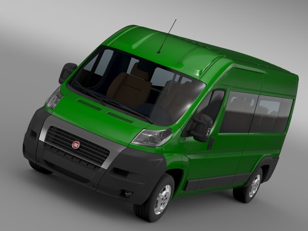 3d fiat ducato maxi bus model