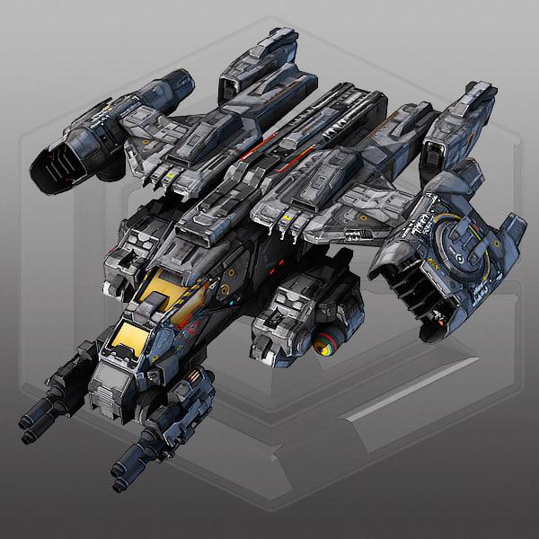 scifi dropship 3d max