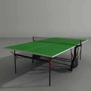 3d table teniss model