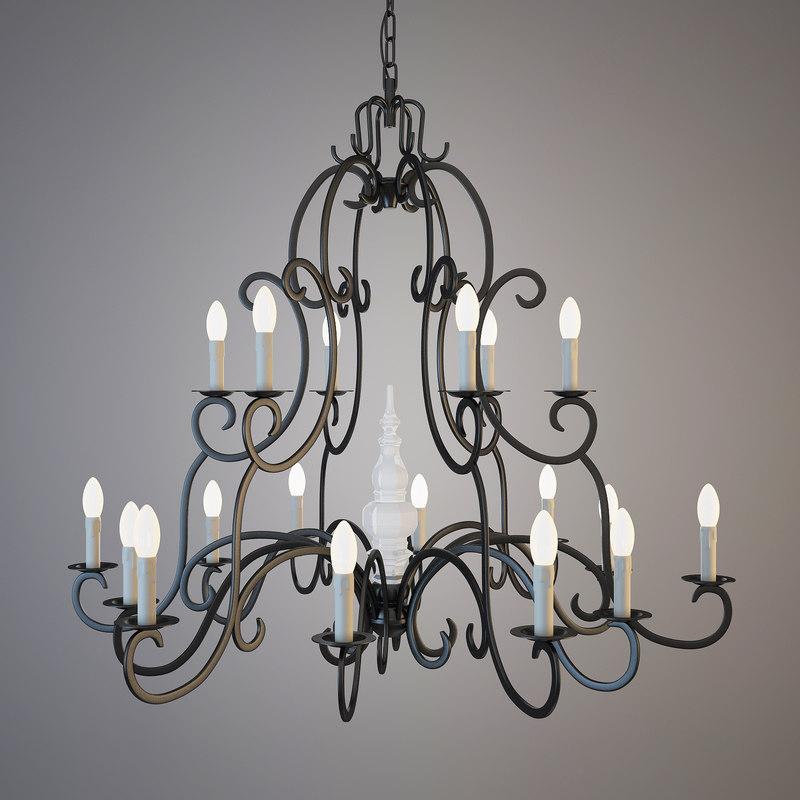 chandelier figeac 3d max