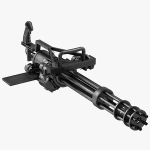 3d minigun modeled realistic model