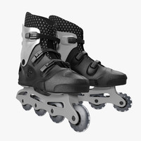 rollerblades modeled 3ds