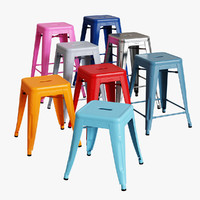 3ds max tolix h stools