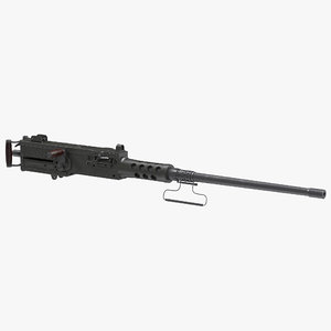machine gun browning m2 3d model