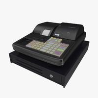 modern cash register 3d max