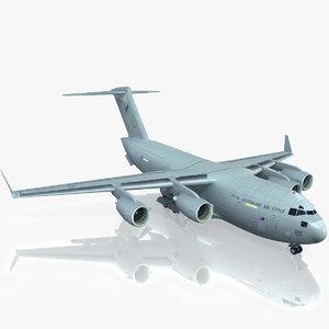 c-17 globemaster iii raaf 3d model