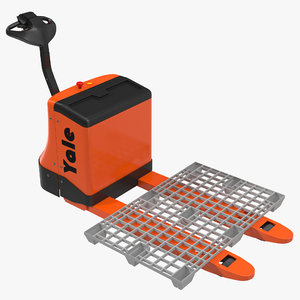 3ds max powered pallet jack plastic