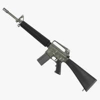 Rifle M16A2 3D Model