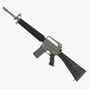 rifle m16a2 modeled 3ds