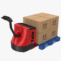 3d model powered pallet jack plastic