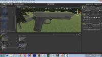 High poly m1911 textured