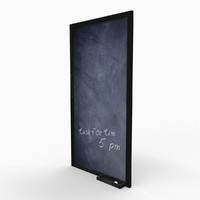 3ds max home chalk board