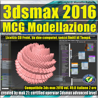 049 3ds max 2016 MCG Modellazione vol. 49 CD front