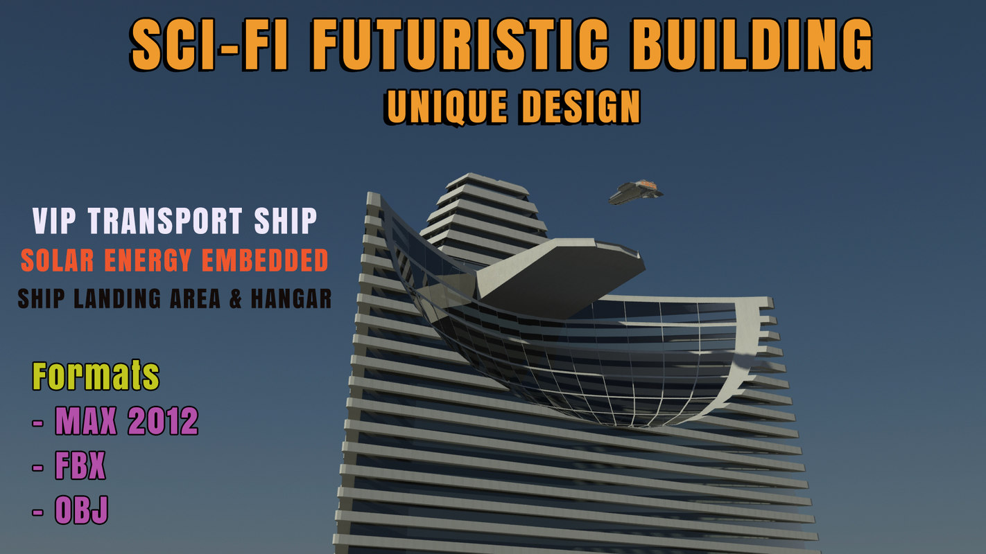 3d max sci-fi futuristic architecture building design