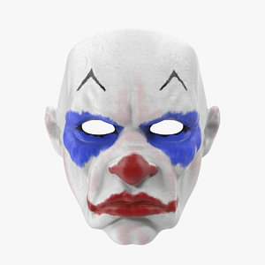 3d clown mask model