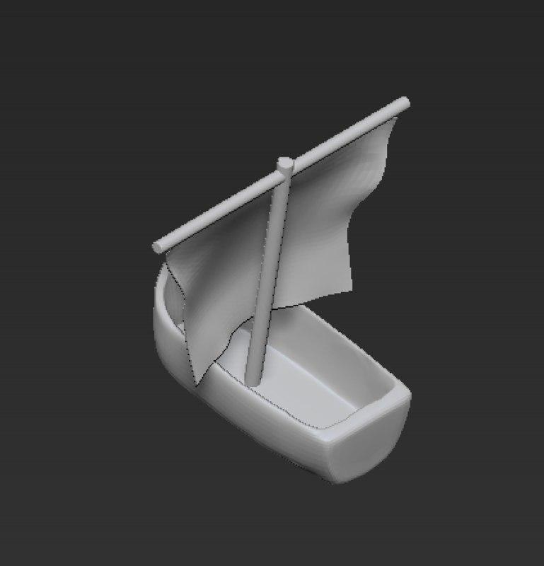obj boat toy