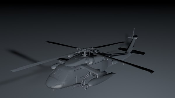 aircraft helicopter c4d