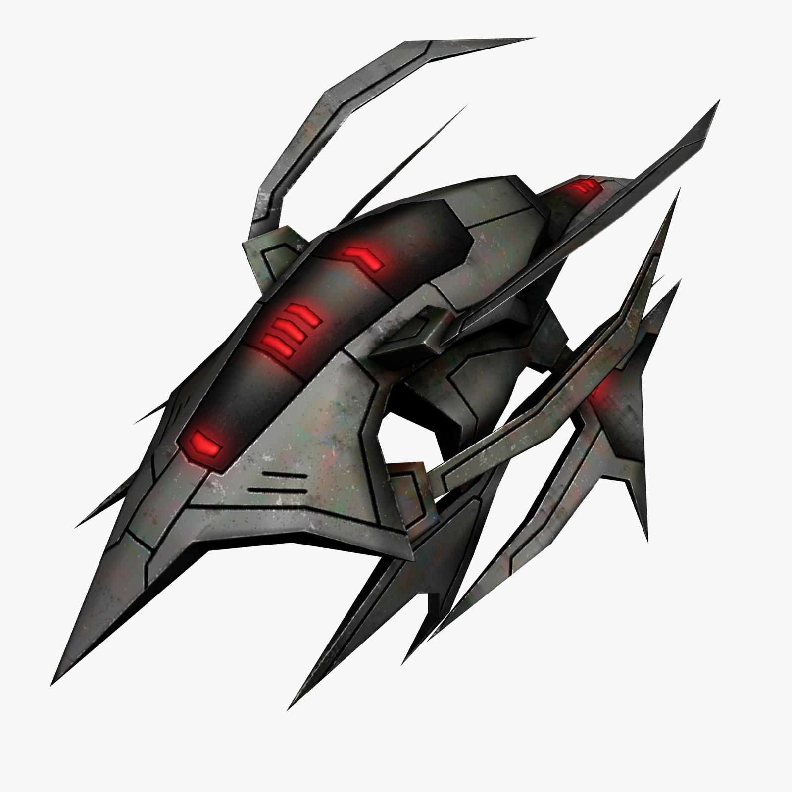 3d model alien fighter fi