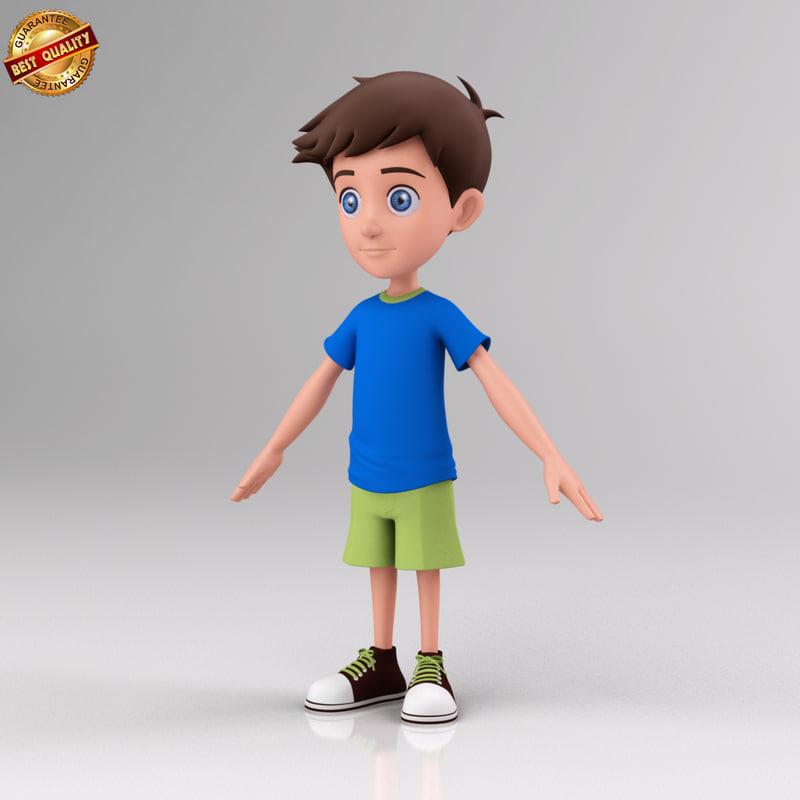 human boy 3d model