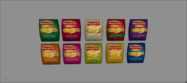 3d 10 pack walkers flavours model