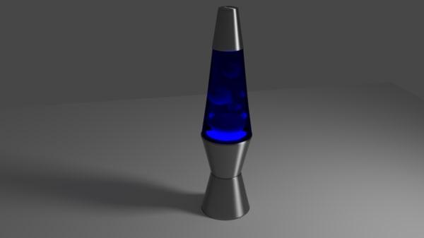 3d blue lava lamp