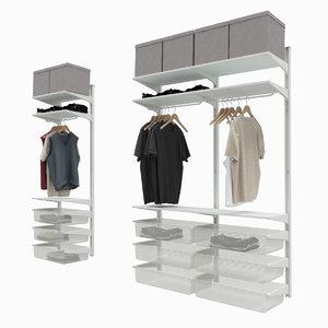 max ikea algot clothes storage