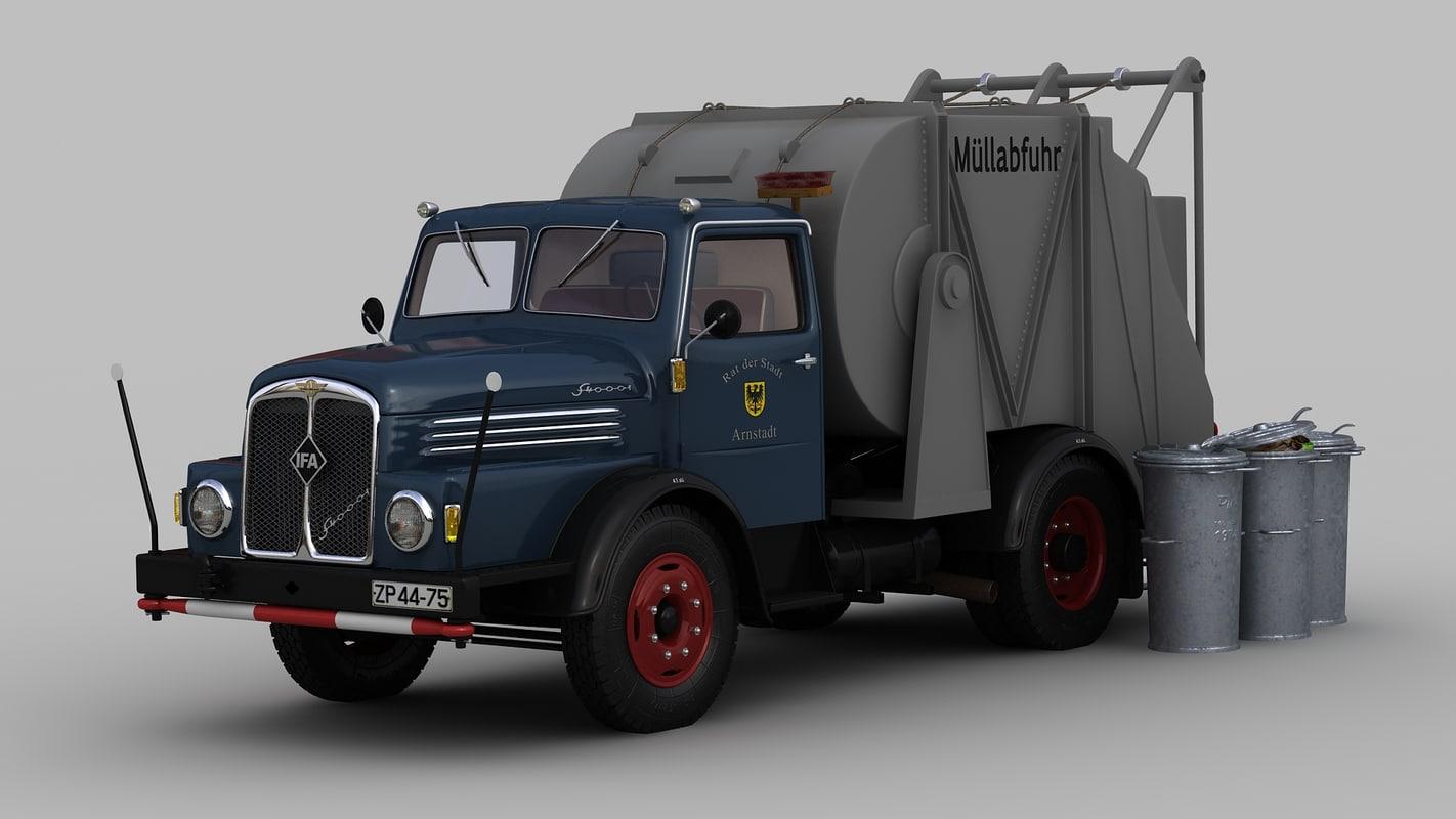 s4000 garbage truck 3d model