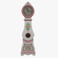 hand painted grandfather clock 3d max