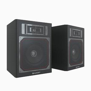 max sharp oldschool speakers