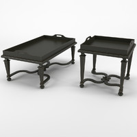 Classic Coffee Tables - Chelini Art.2061/V + 2061/PV