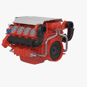 marine v8 engine 3ds