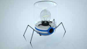 3d model mechanical spider