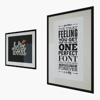 Typography Print Pictures
